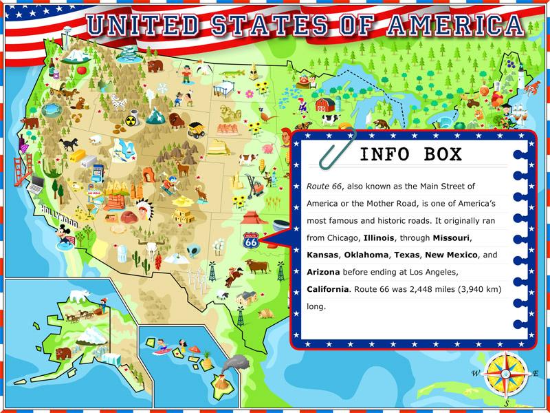 USA Illustrated Atlas - Atlas map of us